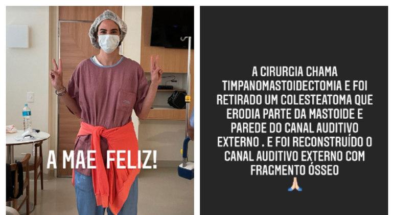 Luciana Gimenez acompanhou a cirurgia do filho – Foto: Reprodução/Instagram