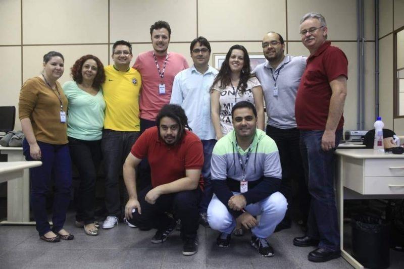 Registro mostra a passagem de Luiz Fernando Cardoso como editor no jornal Notícias do Dia de Joinville – Foto: Redes sociais