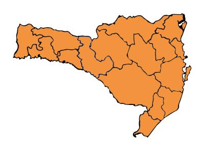 Mapa mostra mais uma vez todas as regiões no nível grave na transmissibilidade – Foto: SES/Divulgação