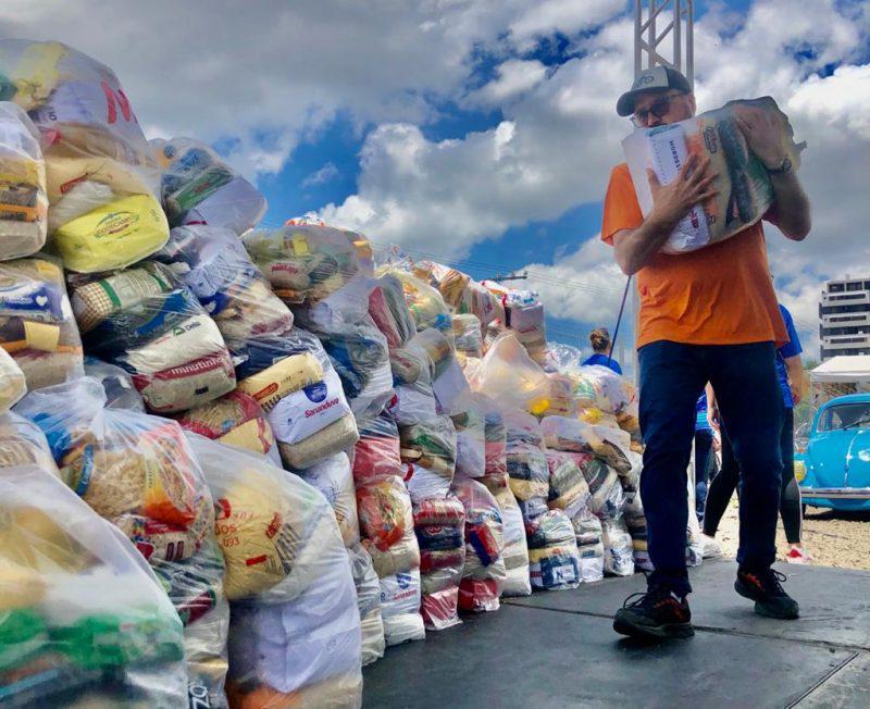 Quantidade de alimentos doados em Cocal do Sul revela sensibilidade da população do município – Foto: Divulgação
