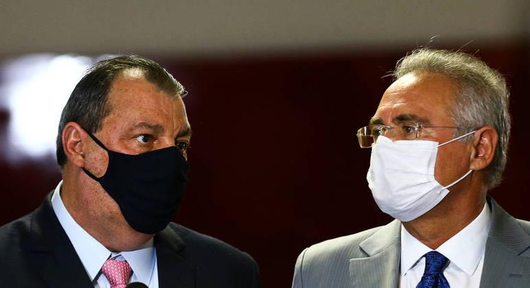 Omar Azis e Renan Calheiros devem definir como serão as primeiras sessões da CPI da Covid – Foto: Marcelo Camargo / Agência Brasil