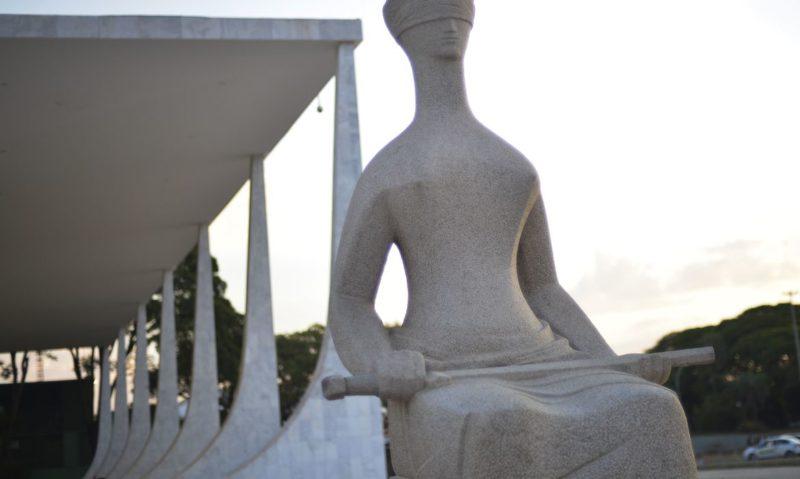 Fachada do Supremo Tribunal Federal (STF) com estátua A Justiça, de Alfredo Ceschiatti, em primeiro plano. – Foto: Marcello Casal Jr/Agência Brasil/Divulgação/ND