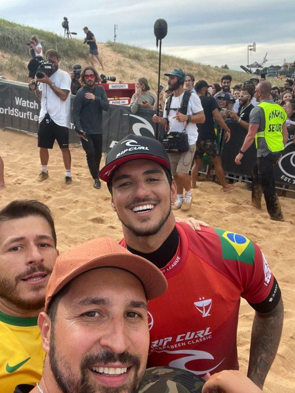 Depois do campeonato, Mateus aproveitou para tirar um foto com o ídolo – Foto: Arquivo pessoal