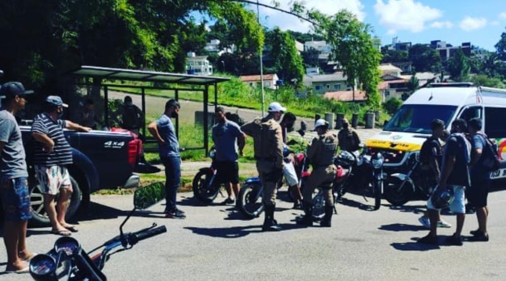 A PMRv (Polícia Militar Rodoviária) recebeu na tarde deste domingo (4), denúncias envolvendo um grupo motociclistas. - PMRv/Divulgação/ND