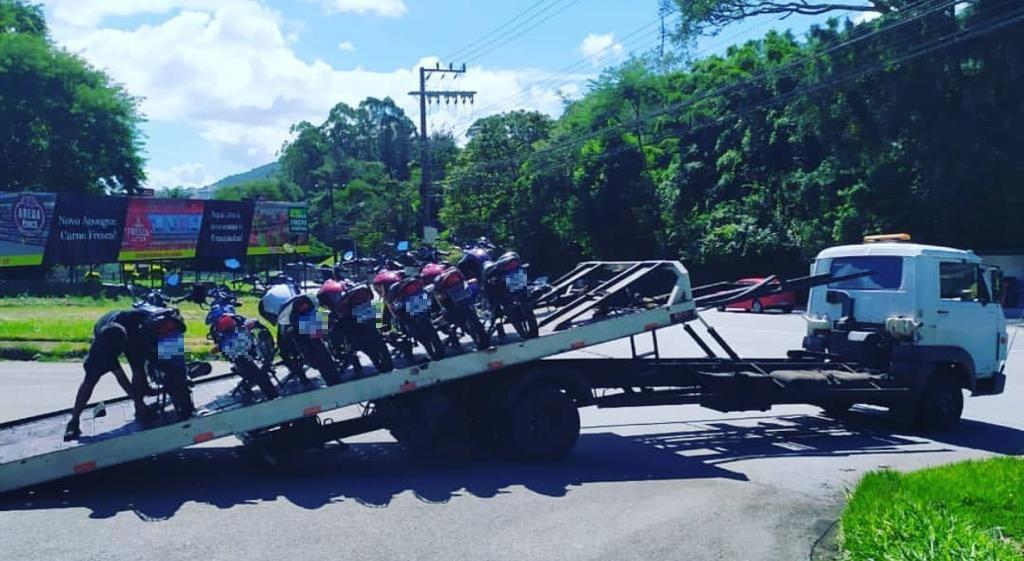 As motocicletas foram recolhidas. - PMRv/Divulgação/ND