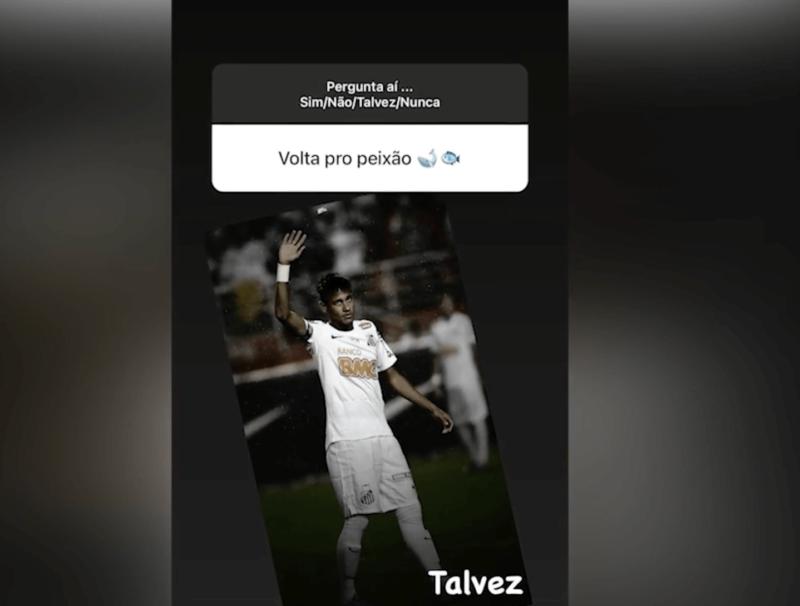 """Mas, Neymar também respondeu se voltaria para o Santos… """"Talvez"""" – Foto: Reprodução"""
