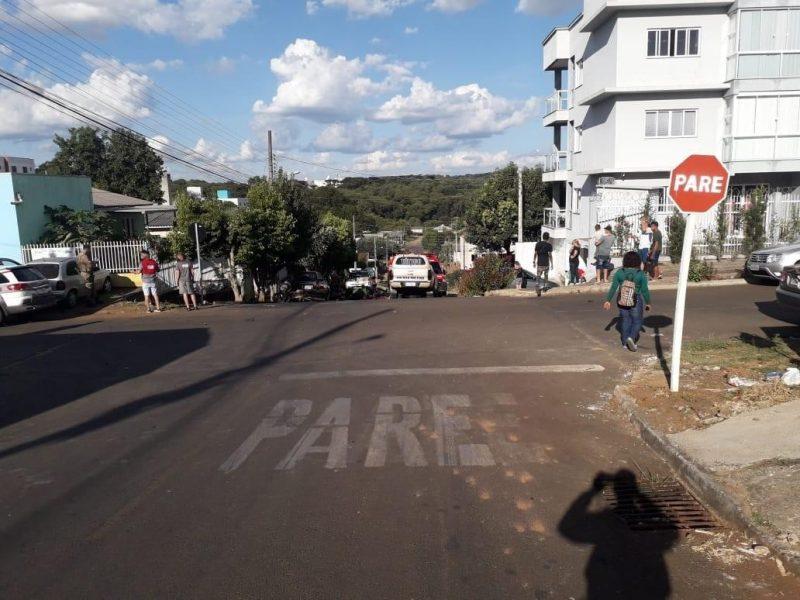 Jovem de 22 anos foge da polícia e sofre acidente no bairro Efapi – Foto: Polícia Militar/Divulgação