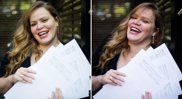 Após ganhar mais de 48 vezes na loteria, Paulinha Leitte posa para fotos – Foto: Léo Franco/Agnews