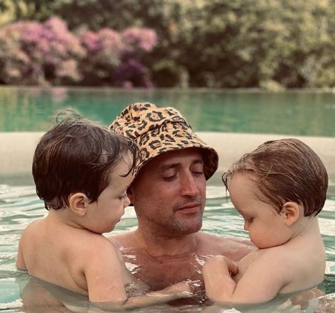 Paulo Gustavo com os filhos