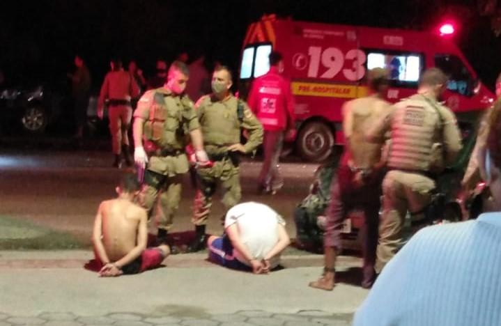 Suspeitos foram presos na zona Sul de Joinville – Foto: Divulgação/Redes Sociais