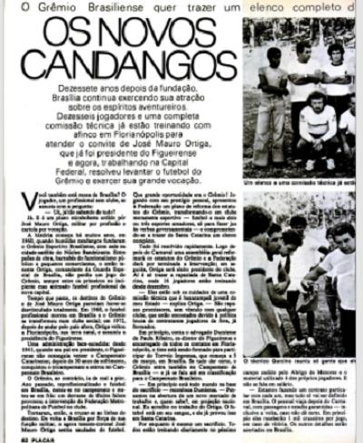 A aventura chegou a ganhar destaque nas páginas da revista Placar, na edição de18 de fevereiro de 1977 – Foto: Placar/reprodução