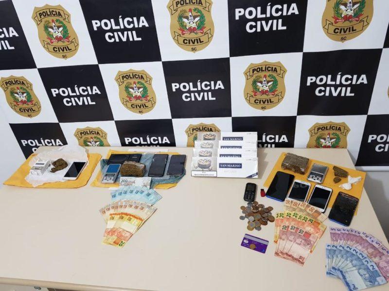 Material apreendido com os criminosos – Foto: Polícia Civil/Divulgação/ND