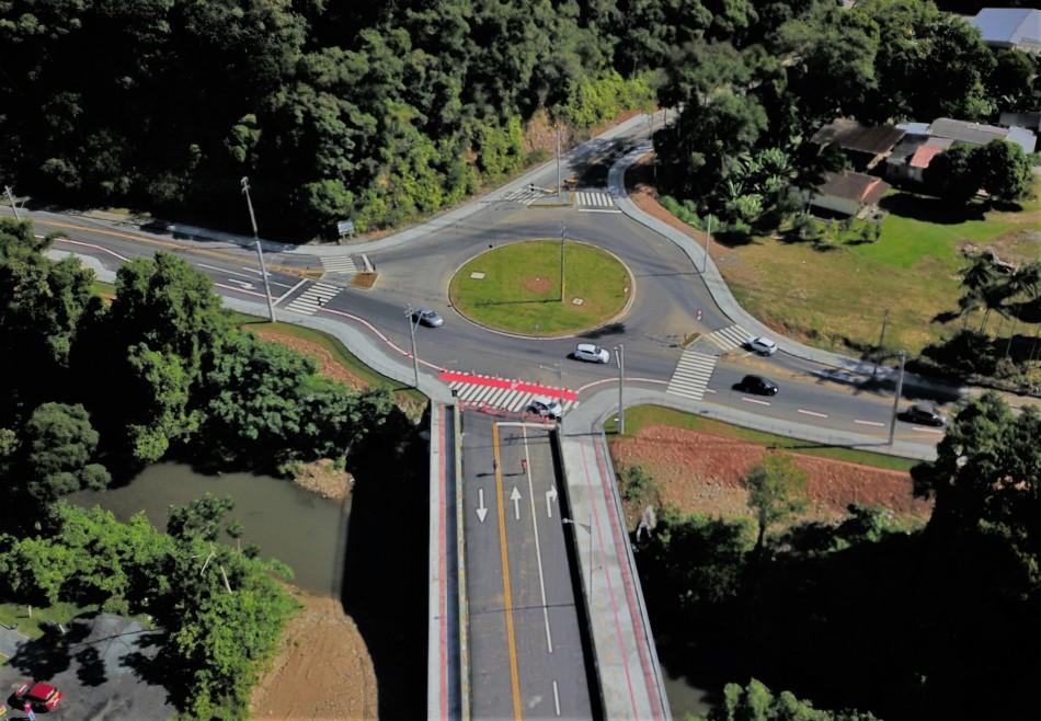Nova estrutura ligará ruas Amazonas e Hermann Huscher - Eraldo Schnaider/Prefeitura de Blumenau