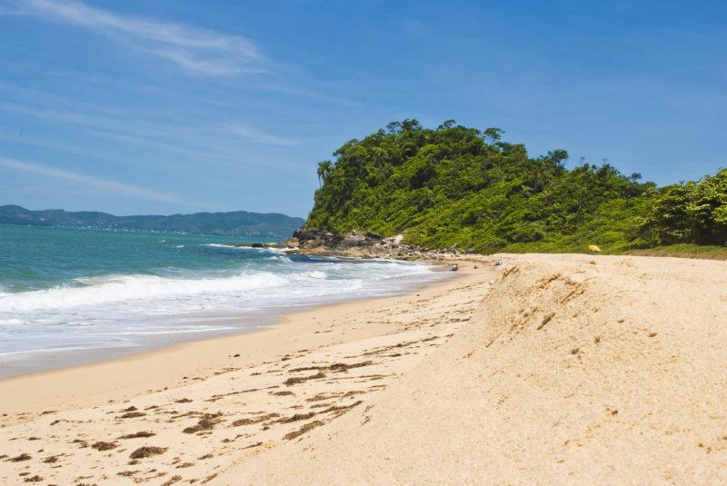 Praticamente deserta, a Praia Grossa é destino ideal para surfistas – Foto: Prefeitura de Itapema/Divulgação