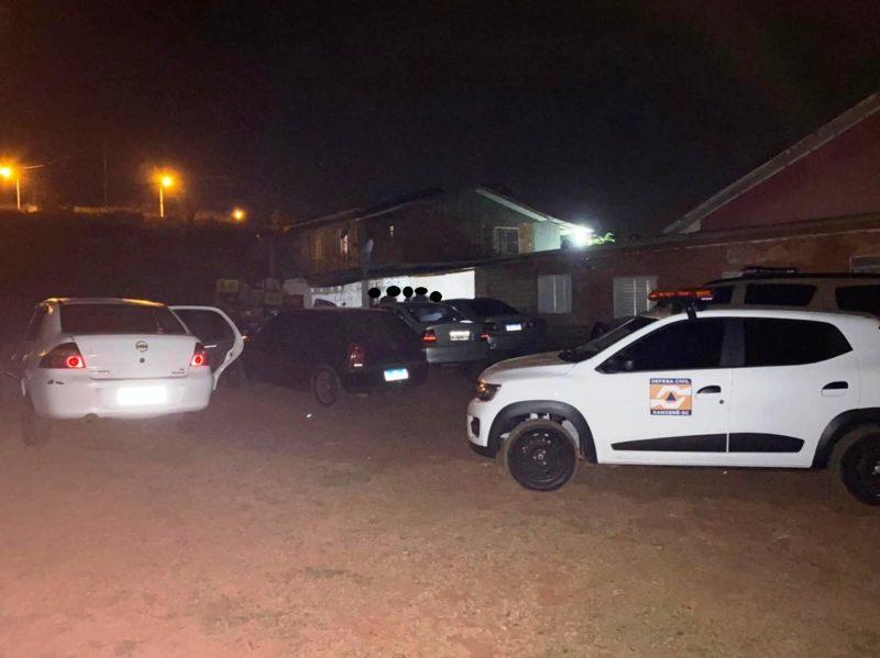 Além do descumprimento do decreto, drogas foram apreendidas em festa em Xanxerê
