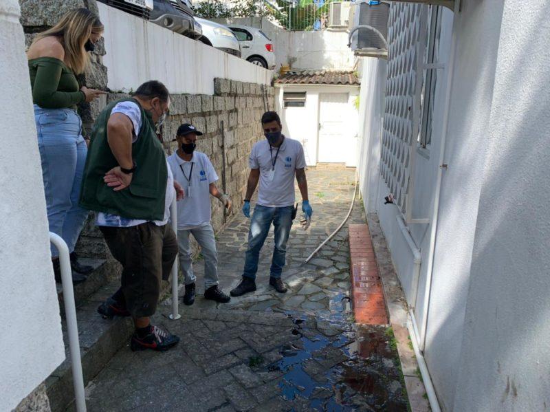 Prefeitura fiscaliza imóveis com ligações sanitárias irregulares – Foto: Djone Joench/Floripa Se Liga Na Rede
