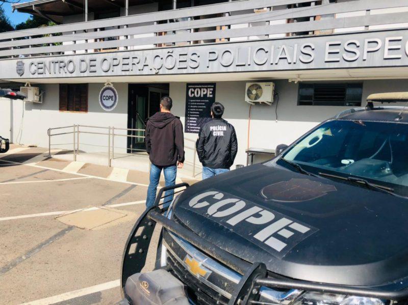 Um dos suspeitos pelo roubo a um estamparia de Blumenau foi preso em Curitiba (PR) – Foto: Divulgação/Polícia Civil