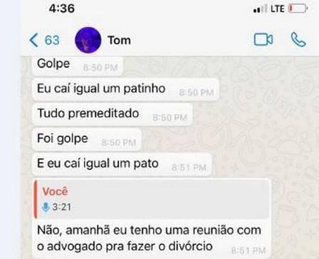 """Tom Veiga diz que """"caiu igual um patinho"""" – Foto: Divulgação/ND"""