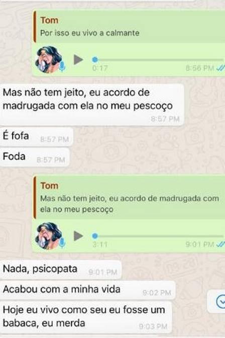 Relatos de Tom Veiga por áudios e mensagens do WhatsApp – Foto: Divulgação/ND