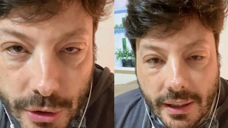 Danilo Gentili gravou vídeos neste domingo (4) relatando problema com rosto inchado – Foto: Reprodução/Instagram Danilo Gentili