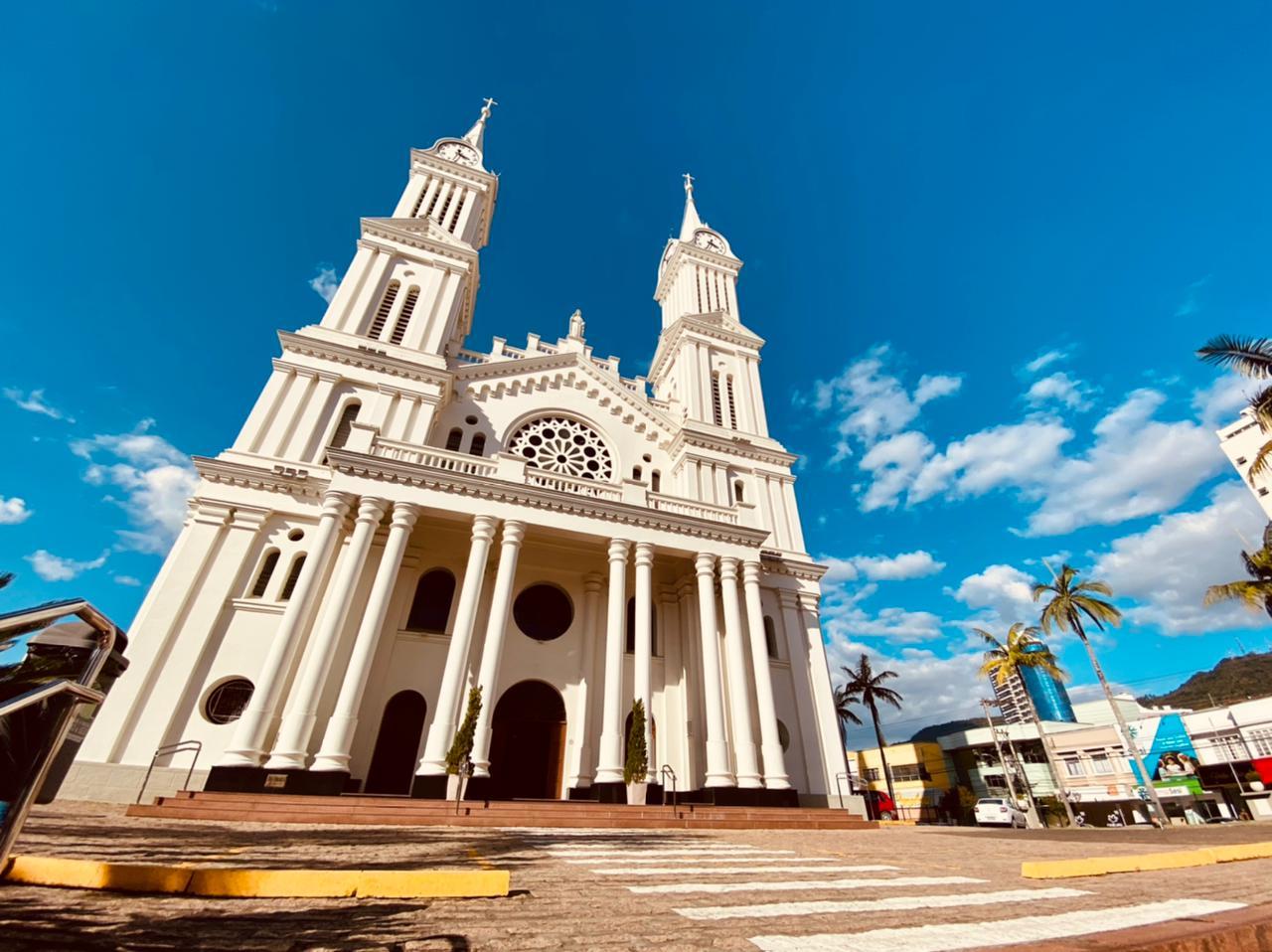 Catedral São João Batista, em Rio do Sul - Moisés Stuker / NDTV Blumenau