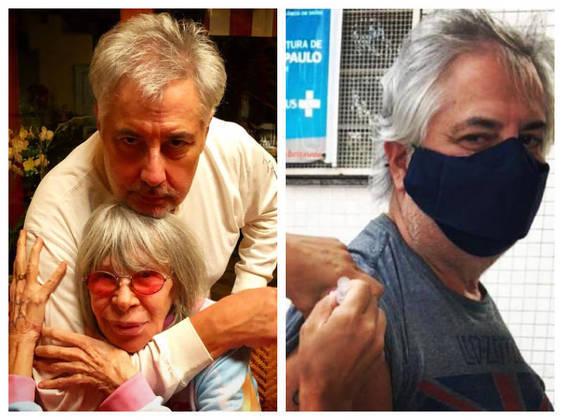 Roberto de Carvalho, marido de Rita Lee, recebeu o imunizante em abril. - Reprodução/Instagram