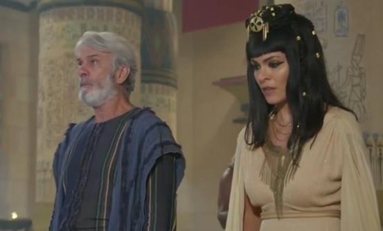 Sarai e Abrão são ameaçados pelo faraó nesta quarta (21) em Gênesis – Foto: Reprodução/R7