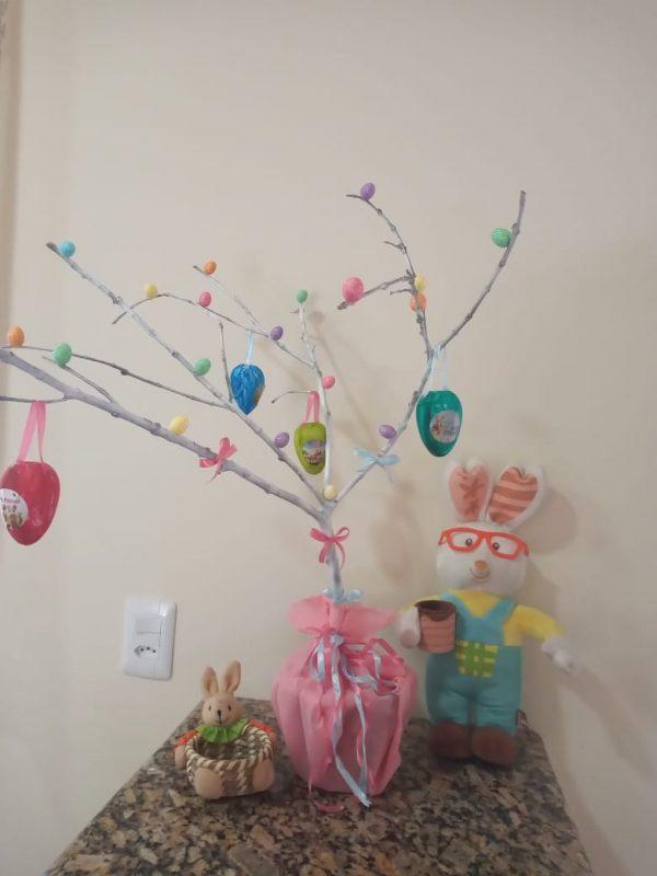 Bianca também montou sua Árvore de Páscoa e nos mandou. Foto: Bianca/Divulgação ND