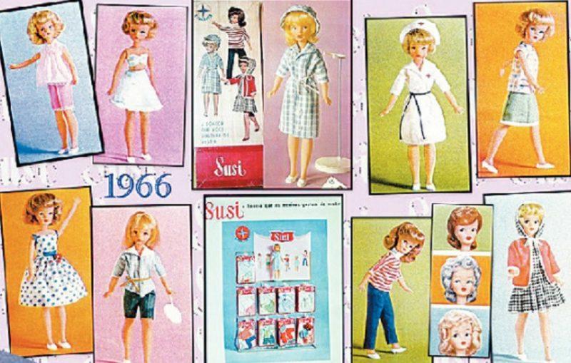 Coleção das bonecas Susi, da marca de brinquedos Estrela, de 1966 – Foto: Reprodução/Pinterest