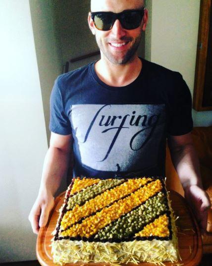 Paulo Gustavo e torta salgada