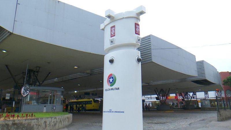 Totem tem câmeras de alta resolução que capturam imagens em 360 graus – Foto: Marcelo Thomazelli/NDTV