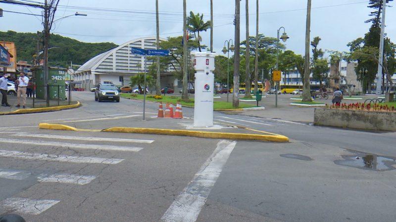 Equipamento está instalado perto do terminal central de Joinville – Foto: Marcelo Thomazelli/NDTV