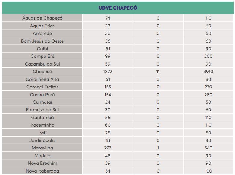 UDVE Chapecó - Dive/SC/Reprodução/ND