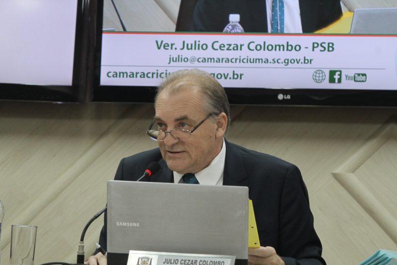 Júlio Colombo foi vereador por dois mandatos – Foto: Foto/Divulgação/Câmara Criciúma