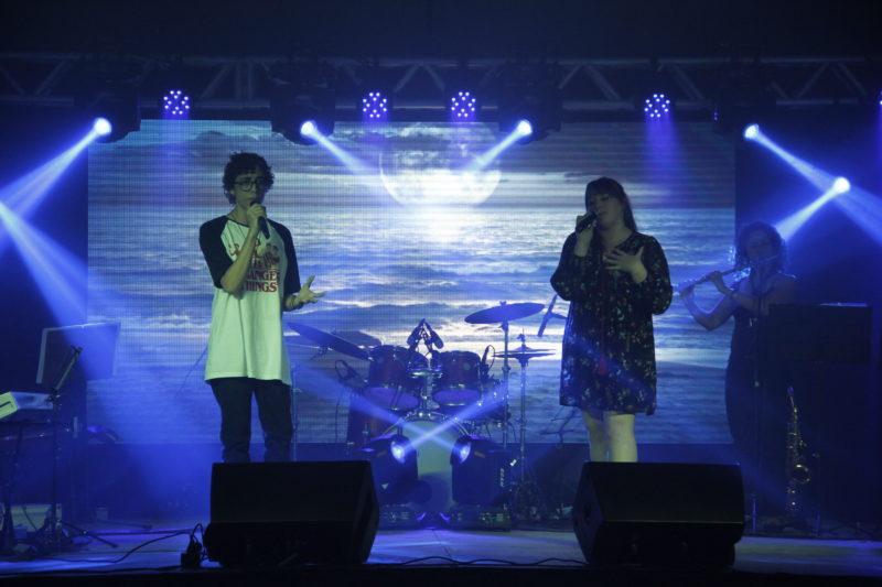 Festival de Canto também é realizado durante da Feira do Livro em Timbó – Foto: Waldemar Neto