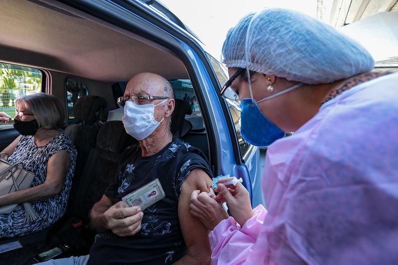 Grande Florianópolis tem 7 cidades com mais de 30% vacinados contra Covid-19– Foto: Mauricio Vieira/Secom/Divulgação/ND
