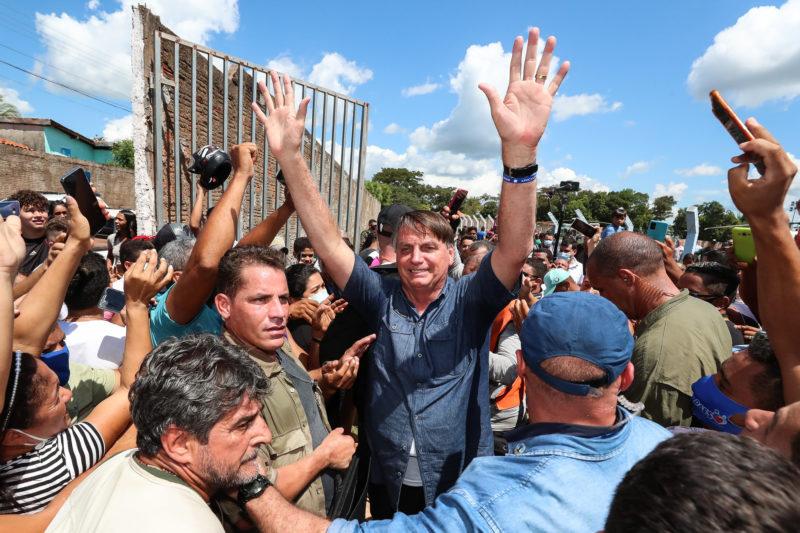 Uma das paradas de Bolsonaro no Maranhão foi em Senador La Rocque – Foto: Isac Nóbrega/PR/Divulgação/ND