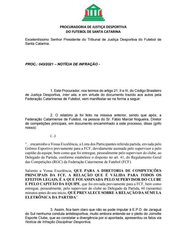 Futebol catarinense, tapetão, Tjd-SC – Foto: divulgação/Procuradoria TJD
