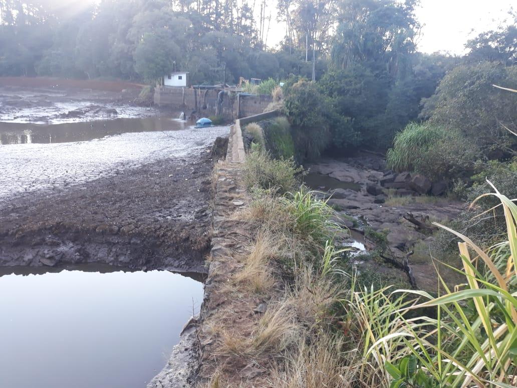Lajeado São José está com o nível baixo de água - Diego Antunes/NDTV