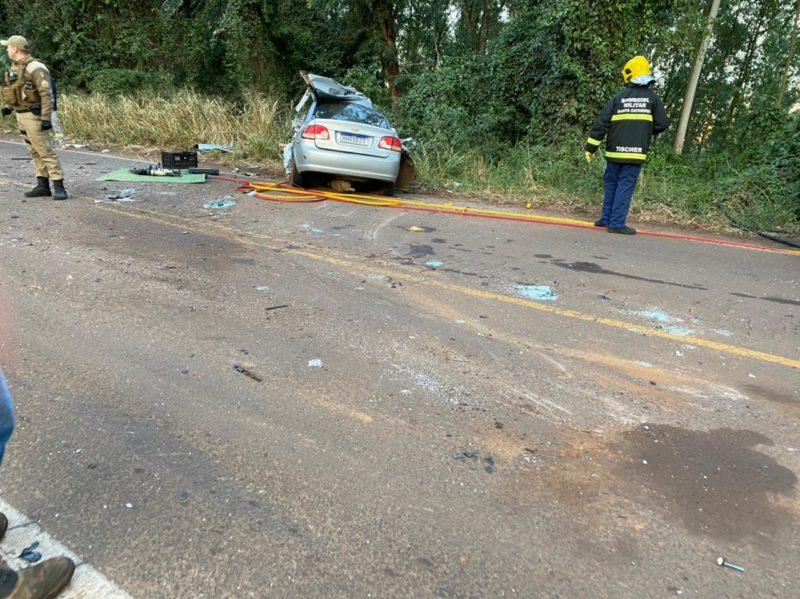 Acidente foi registrado por volta das 6h40 desta quarta-feira (26) – Foto: Diana Isabel Mayer/Portal Peperi/Divulgação/ND