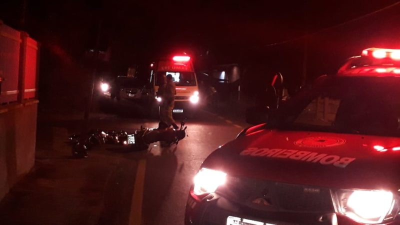 Duas pessoas morreram após grave acidente entre duas motocicletas em Gaspar, no Médio Vale do Itajaí – Foto: Divulgação/Corpo de Bombeiros