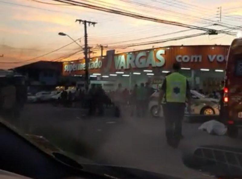 Acidente no bairro Forquilinhas, em São José – Foto: Divulgação/ND
