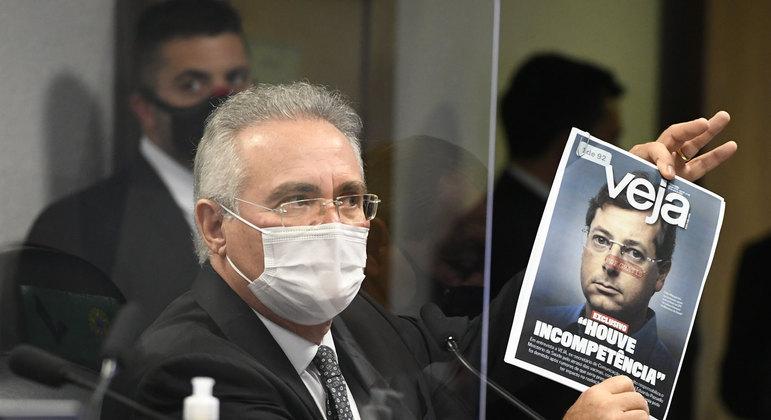 Relator da CPI da Covid, Renan Calheiros pediu pela prisão do ex-secretário Fabio Wanjgarten – Foto: Jefferson Rudy/Agência Senado/Divulgação/ND