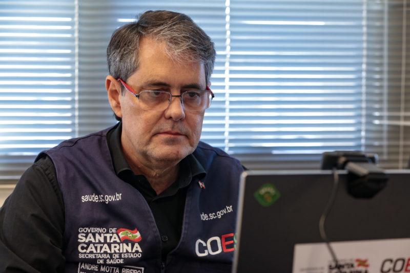 André Motta Ribeiro, secretário da Saúde de SC – Foto: Maurício Vieira/Divulgação/Secom/ND