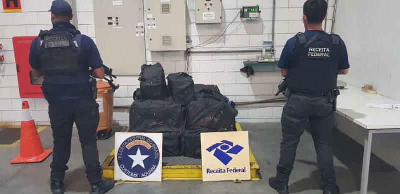 Drogas foram encontradas na manhã desta segunda-feira (3) no Porto de Itapoá – Foto: Receita Federal/Divulgação