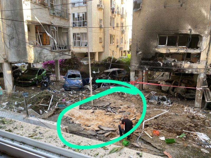 Local em que o míssil caiu. – Foto: Arquivo Pessoal/Reprodução