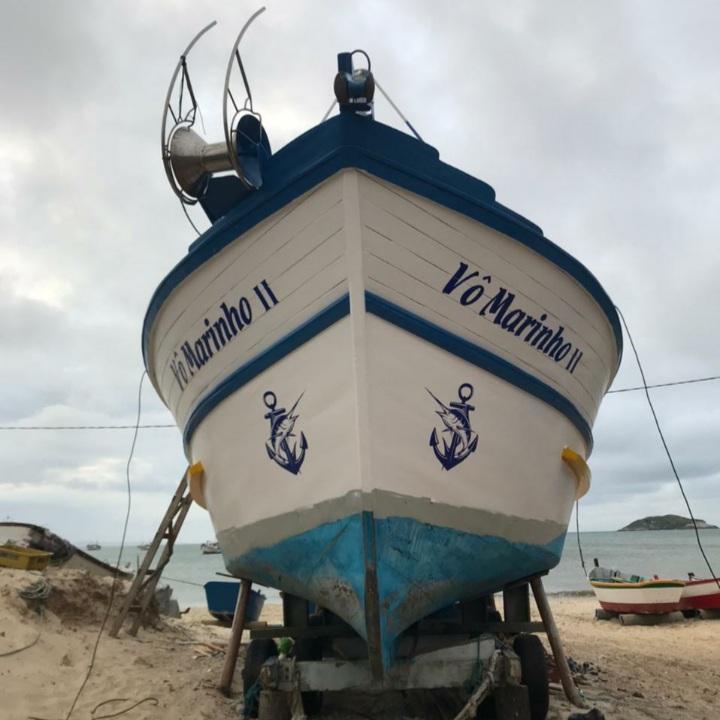 Vô Marinho II, de Ricardo, está recebendo últimos ajustes para a safra da tainha de 2021 – Foto: Divulgação/ND