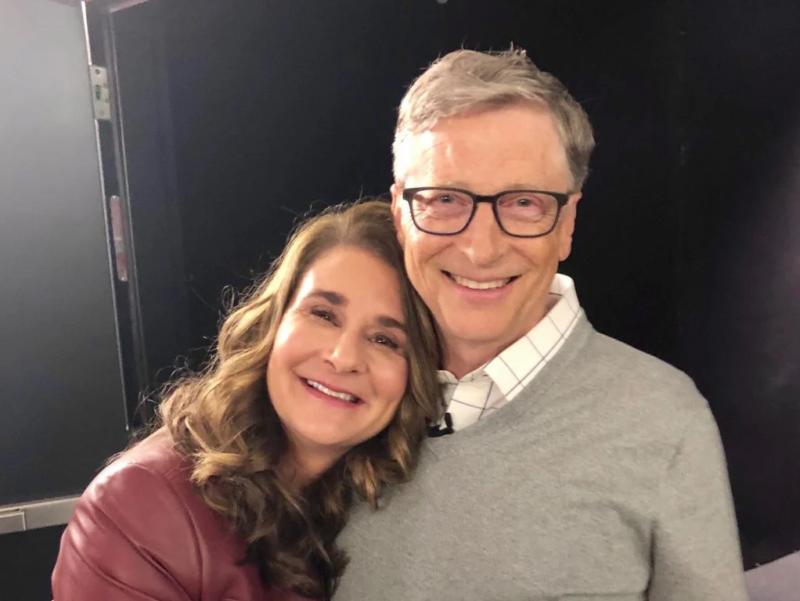 bill gates e sua esposa Melinda Gates