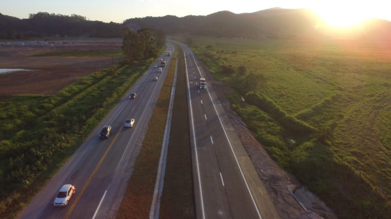 DNIT libera novo trecho de duplicação da BR-470 entre Navegantes e Luiz Alves, no Vale do Itajaí – Foto: Divulgação/DNIT