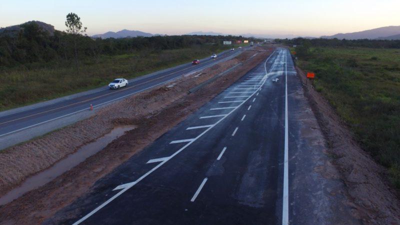 Obra na BR-470 continua a passos lentos em razão do não repasse de recursos – Foto: Divulgação/DNIT